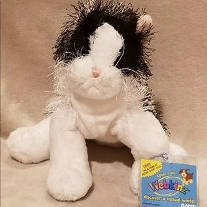 NWT Webkinz Black and White Cat